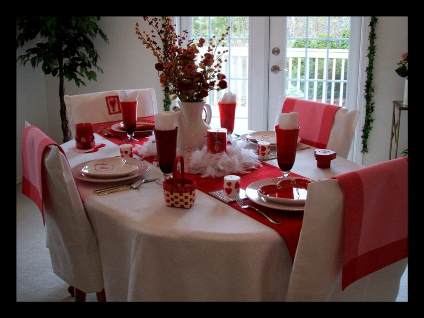 valentine table centerpieces. my Valentine#39;s Day table
